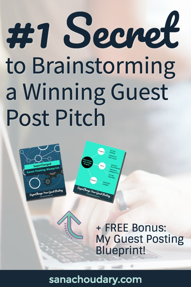 Want to guest post but feel absolutely lost on what to pitch? Check out this post for my #1 secret to coming up with a winning guest post pitch!