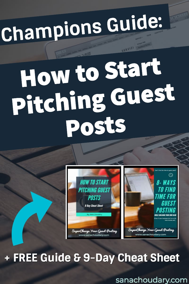 Want to start pitching guest posts but don't know where to start? How to find the right sites? Or how to sell the value of your guest post? Then check out my champions guide on how to start guest posting where I answer all these questions and more.