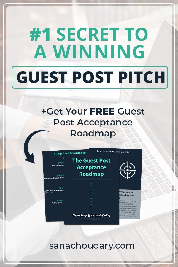 #1 Secret to a Winning Guest Post Pitch