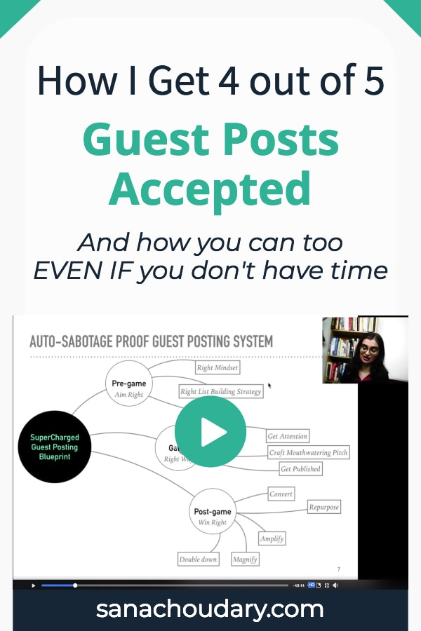 guest post marketing tips for getting 4 out of 5 of your guest posts accepted