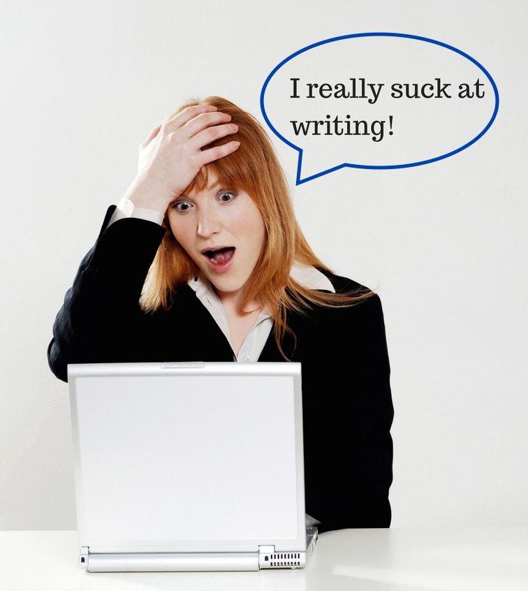 I really suck at writing