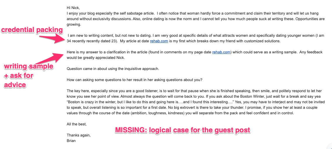 guest post email template fail no logical case for guest post