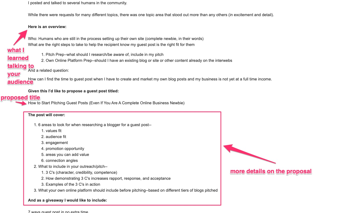guest post email template followup