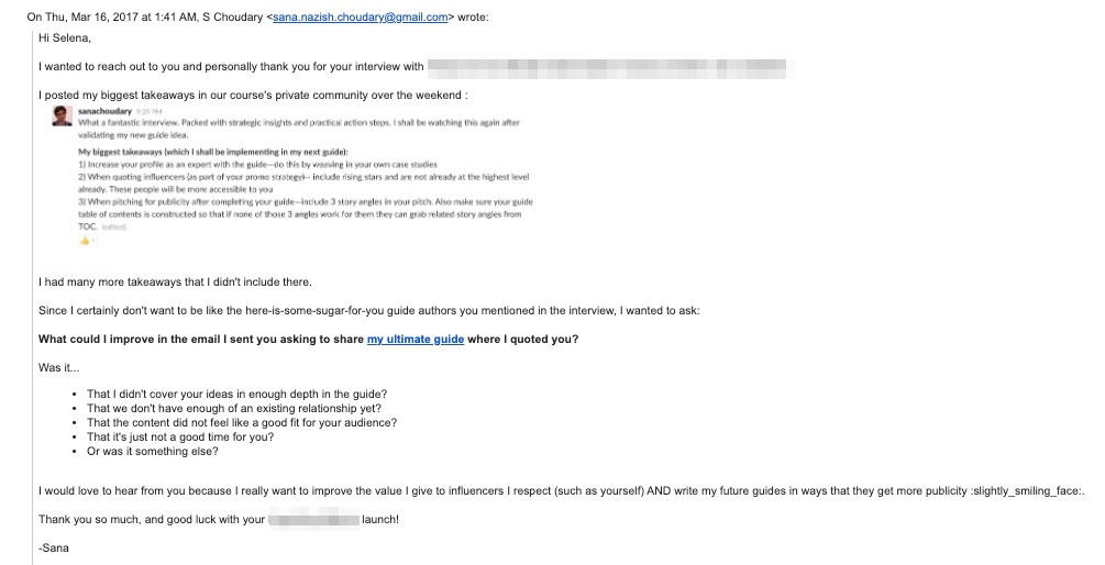 guest post email template making it ok to say no